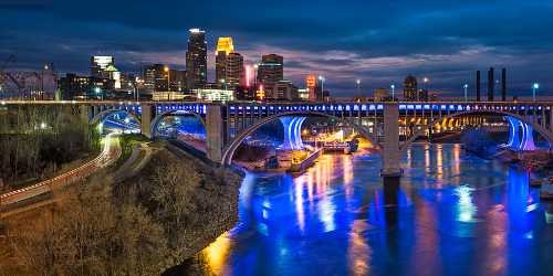 Minneapolis from Bridge 9 - Photo Credit Dan Anderson, Courtesy of Meet Minneapolis